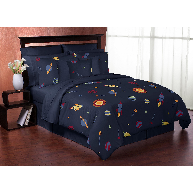 Sweet Jojo Designs 3 Piece Space Galaxy Full Queen Size Comforter Set Multi Overstock 13008009