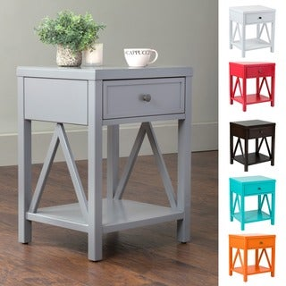 The Gray Barn Latigo Acacia Wood End Table
