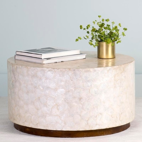 Fantastic Off White Round Coffee Table Evergreenethics Interior Chair Design Evergreenethicsorg