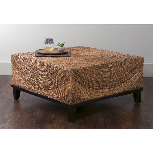 East At Main 39 S Chickasaw Brown Abaca Square Coffee Table Free Shipping Today