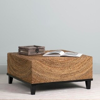 East At Main's Chickasaw Brown Abaca Square Coffee Table