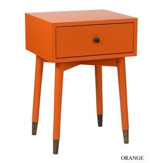 Palm Canyon Fawnridge Acacia Wood Square Accent Table (Option: Orange)
