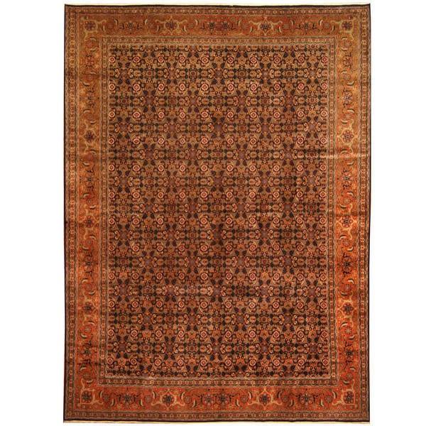 Herat Oriental Persian Hand-knotted Tribal Tabriz Wool Rug (8'2 x 11'2)