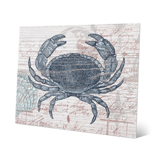 Vintage Blue Crab Metal Wall Art On Free Shipping Today 13008049