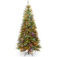 PowerConnect Dunhill Fir 7.5-foot Slim Tree with Light Parade LED Lights - 7.5'