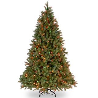Downswept 6.5-foot Douglas Fir Tree with Multicolored Lights