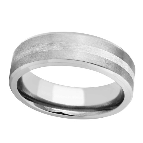 Men's Titanium and Silver Band