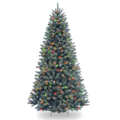 North Valley 7.5-foot Artificial Blue Spruce Tree With Multicolor Lights