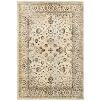 Arabesque Traditions Ivory/ Gold Area Rug (3'10 x 5'5)