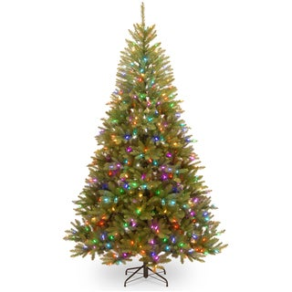 Dunhill Fir Hinged 7.5-foot Tree with 600 Lights Parade Lights