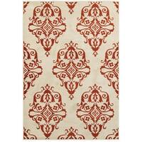 Floral Medallions Ivory/Rust Area Rug (3'10 x 5'5)