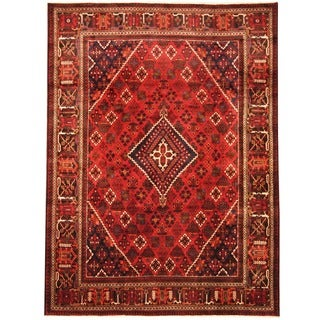 Herat Oriental Persian Hand-knotted Tribal Josheghan Wool Rug (8'3 x 11')