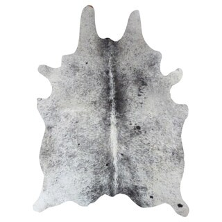 Salt and Pepper' Leather Cowhide Area Rug (6' x 7')