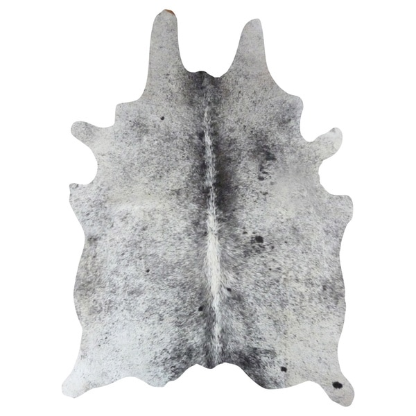 Salt And Pepper X27 Leather Cowhide Area Rug