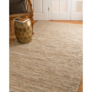 Natural Area Rugs Hand Loomed Brisco Leather Rug, (5' x 8')