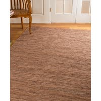 Natural Area Rugs Hand Loomed Biscayne Leather Rug, - 5' x 8'