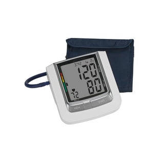 HealthSmart Select Automatic Arm Digital Blood Pressure Monitor Large Cuff with AC Adapter