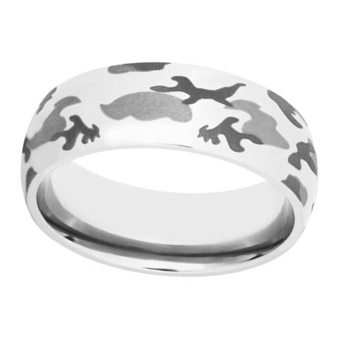 Men's Tri-color Titanium Camo Band - Silver