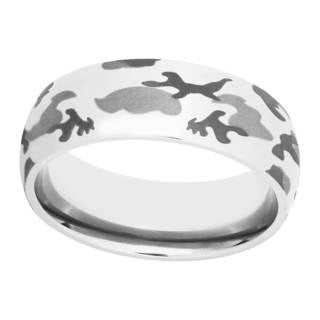 Men's Tri-color Titanium Camo Band - Silver