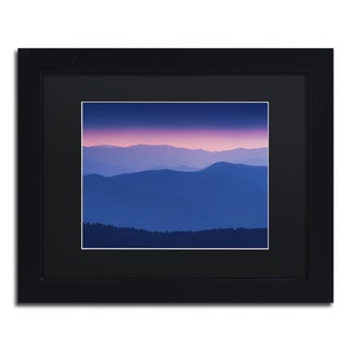 Michael Blanchette Photography 'Purple Mountains' Matted Framed Art