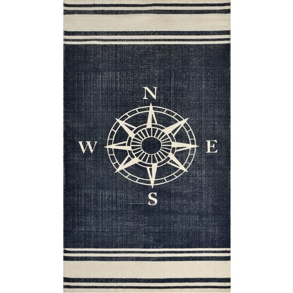 Nautical Cotton Rug 2 3 X 4 6 Free Shipping On Orders