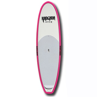 Kanghua White Pink Carbon Fiber 9.6-foot Performance Surf Stand-up Paddleboard