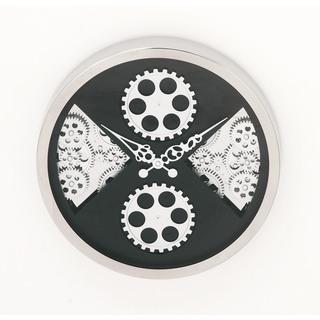 Urban Designs Industrial Gear Black Round Wall Clock