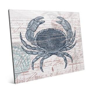 'Vintage Blue Crab' Wall Art on Acrylic