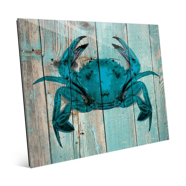 Crab on Sky' Plank Wall Art on Acrylic