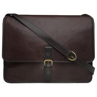 Hidesign Harrison Brown Buffalo Leather Laptop Messenger Bag