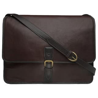 83fb7ba519d9 Hidesign Harrison Brown Buffalo Leather Laptop Messenger Bag