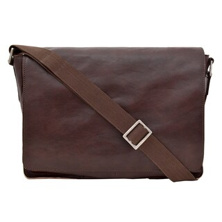 Hidesign 'Fred' Horizontal Leather Messenger Bag