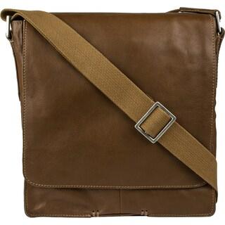 Hidesign Fred Vertical Leather Messenger Bag