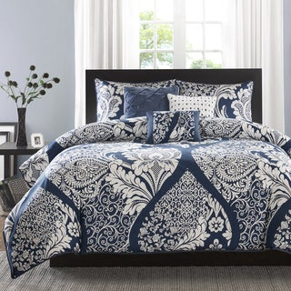 Madison Park Marcella Indigo Cotton Printed 6 Piece Duvet Cover Set (2 options available)