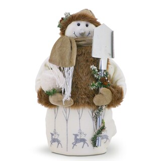24-inch Sporty Snowman Christmas Decoration