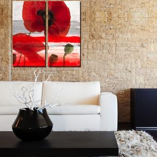 Ready2HangArt 'Painted Petals XXXII' 2-Piece Canvas Wall Art Set