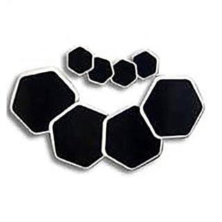Robots Black Plastic Furniture Sliders (Pack of 8)