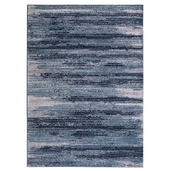 Jasmin Collection Stripes Navy And Beige Polypropylene