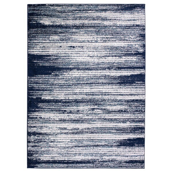 Jasmin Collection Stripes Beige Polypropylene Area Rug 7
