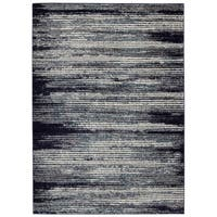 Jasmin Collection Stripes Blue/Beige Area Rug - 7'10 x 9'10