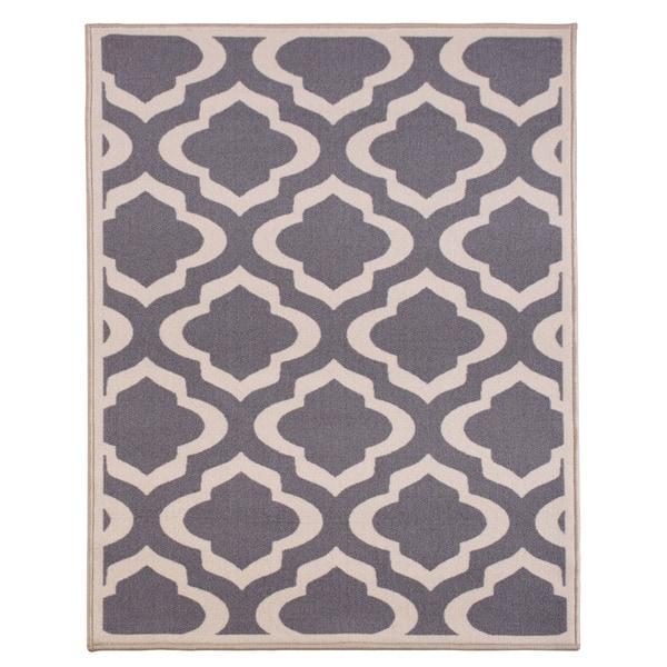 Anne Collection Moroccan Trellis Design Beige Modern