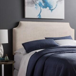 Humble + Haute Raleigh Queen Size Velvet Ivory Upholstered Headboard