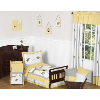 Sweet Jojo Designs Honey Bumble Bee Hive Toddler 5-piece Bed in a Bag Set