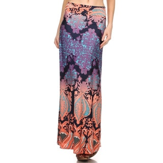 Women's Damask Maxi Skirt