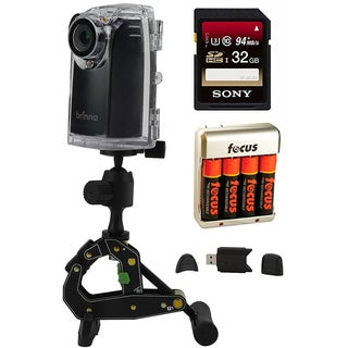 Brinno BCC200 Construction Time Lapse Camera + 32GB Memory Card + Batteries + USB Reader