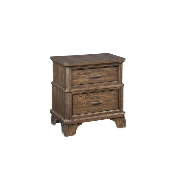 Telluride Vintage Oak 2-Drawer Nightstand