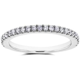Annello by Kobelli 14k White Gold 1/4ct TDW Split Prong Diamond Wedding Band (G-H, I1-I2)