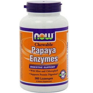 Now Foods Papaya Enzyme (360 Chewable Lozenges)