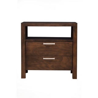 Alpine Austin Nightstand with Drawer and Shelf