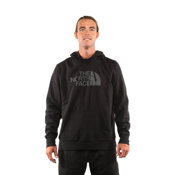 1b3ce99e5b Shop The North Face Men s TNF Black Asphalt Grey Half Dome Hoodie ...